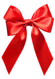 Bright red bow isolated Royalty Free Stock Images