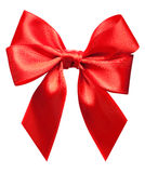 Bright red bow isolated Royalty Free Stock Photography