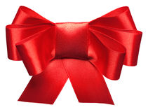 Bright red bow isolated Stock Photography
