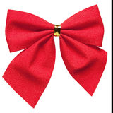 Bright red bow isolated Royalty Free Stock Photos