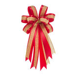 Bright red bow isolated on white Royalty Free Stock Image