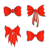 Bright Red Bows Stock Photos