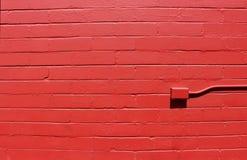 Bright red Brick Wall Stock Photo