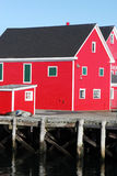 Bright red buildings Stock Image