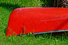 Bright Red Canoe Royalty Free Stock Image
