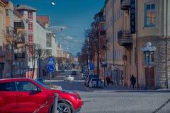 Street/Lane in Sweden stock photo