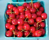 Bright Red Cherries Stock Photo