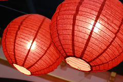Bright red Chinese lamp Royalty Free Stock Photos
