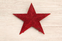 Free Bright Red Christmas Star On A Wooden Background Royalty Free Stock Photography - 77166247