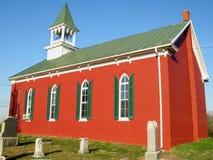 Bright Red Church Stock Photo
