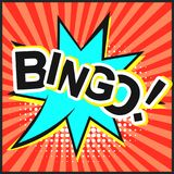 Bright Red Comic Speech Bubble With Bingo Text Royalty Free Stock Photos