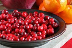 Bright Red Cranberries Stock Photo