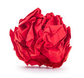 Bright red crumpled paper Royalty Free Stock Photos