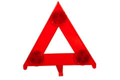 Bright Red Danger Warning Triangle with Reflectors Stock Photography