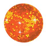 Bright red disco ball illustration Royalty Free Stock Images