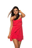 Bright red dress Royalty Free Stock Photo