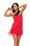 Bright red dress Royalty Free Stock Images
