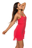 Bright red dress Stock Photography