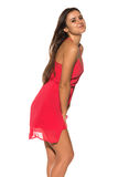 Bright red dress Stock Photo