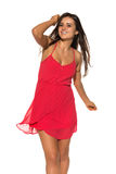 Bright red dress Royalty Free Stock Photography