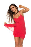 Bright red dress Stock Images