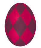 Bright  red easter egg. Painted carmine red easter egg Stock Photo