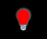 Bright red electric lamp Royalty Free Stock Photo