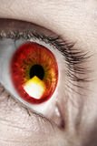 Bright red eye Royalty Free Stock Photos
