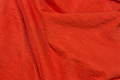 Bright Red fabric background Stock Images