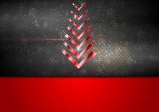 Bright red fir-tree christmas background. Vector design Stock Photos