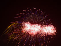 Bright red fireworks Royalty Free Stock Photography
