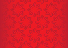 Bright Red Floral Repeat Pattern Seamless Vector Background Desi Stock Photo