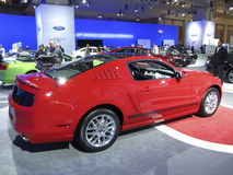 Bright Red Ford Mustang Stock Image