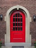 Bright red front door Royalty Free Stock Photography