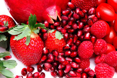 Bright Red Fruit Stock Photos