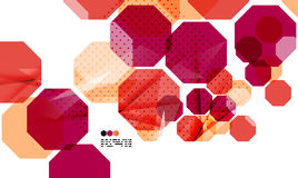 Bright red geometric modern design template Stock Photos