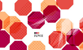 Bright red geometric modern design template Stock Image