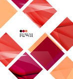 Bright red geometric modern design template Stock Images