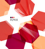 Bright red geometric modern design template Royalty Free Stock Photos