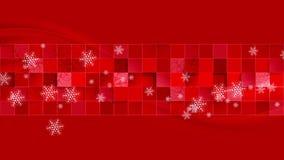 Bright red geometric wavy Christmas video clip stock video