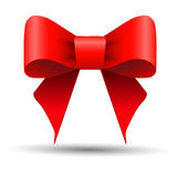Bright red gift bow Royalty Free Stock Photo