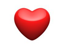 Bright red heart Stock Images