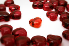 Bright red heart Stock Image