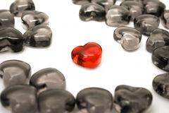 Bright red heart Stock Photography