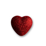 Bright red heart. Stock Photo