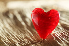 Bright red heart background Stock Photography