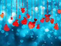 Bright red heart and circle bokeh. EPS 8 Royalty Free Stock Photos