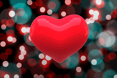 Bright red heart shaped balloon Royalty Free Stock Images