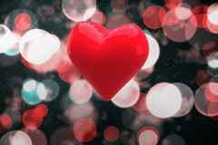 Bright red heart shaped balloon Royalty Free Stock Photography