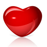 Bright red heart vector Royalty Free Stock Photos